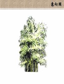 竹子手绘立面