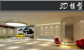 简易汽车展厅3D模型