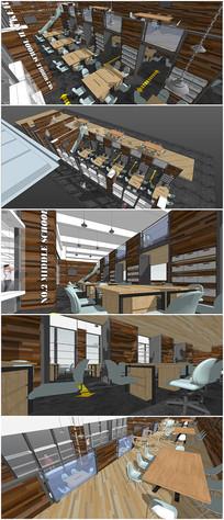 精品办公楼设计SU模型