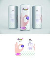 时尚蓝莓果汁包装