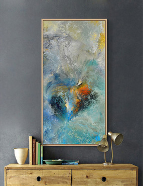 简约抽象油画装饰画