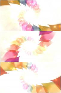 梦幻彩色菱形花纹旋转背景视频