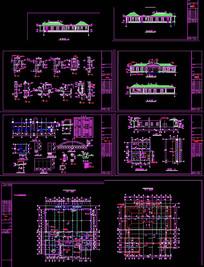 中式食堂建筑CAD图纸