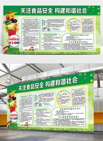 关注食品安全宣传栏展板模板