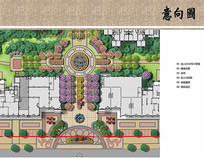 入口景观设计平面图