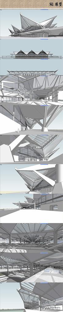 火车站设计模型