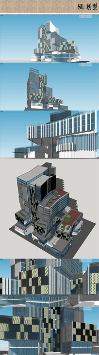 商业中心建筑模型