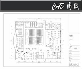 一套健身会所CAD平面布局图