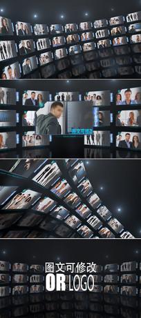 大气企业员工照片墙视频模板