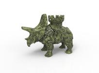 3D模型@镂空犀牛