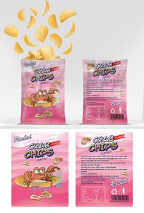粉色可爱薯片包装