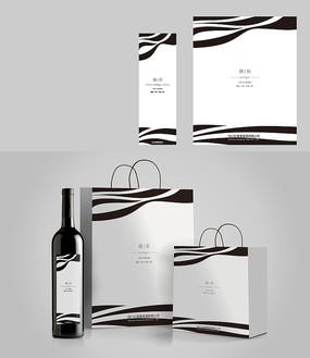 時尚簡約紅酒包裝設計