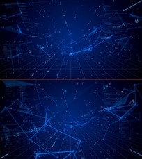 蓝色科技背景数字未来视频