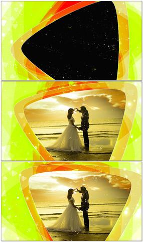 三角形通道婚禮視頻框素材