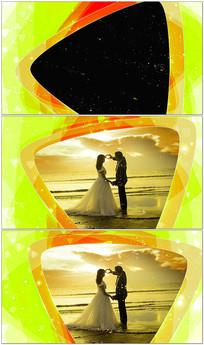 三角形通道婚礼视频框素材