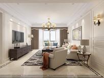 温馨客厅场景模型