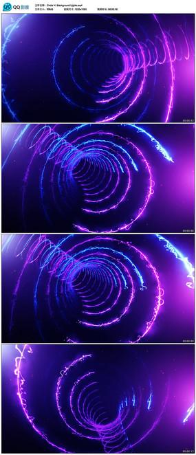 3d光线隧道穿梭视频