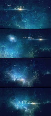 大气宇宙星空字幕标题宣传模板