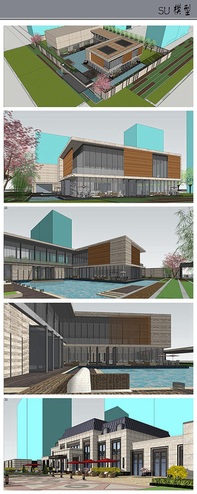 售楼中心与会所建筑模型
