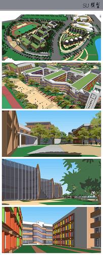 中心小学+幼儿园建筑模型