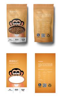 卡通猴子坚果包装