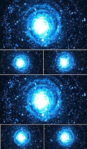 藍色星空視頻旋轉led背景視頻