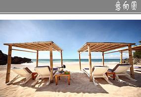 沙灘遮陽廊架 JPG
