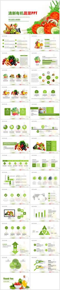 有机水果健康蔬菜果园PPT