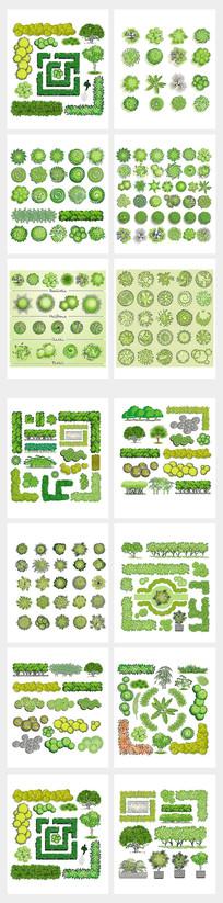 园林绿化建筑设计元素素材