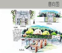 农家乐入口景观设计