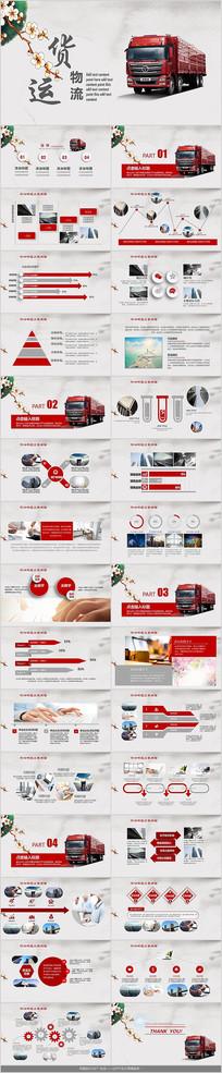 运输货运物流PPT模板
