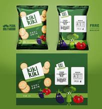 绿色卡通饼干包装