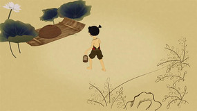 水墨动画故事片头视频