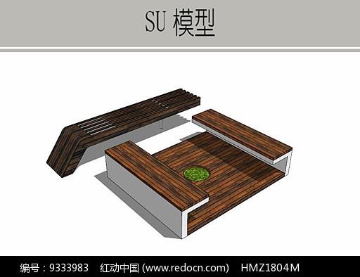 庭院木质坐凳