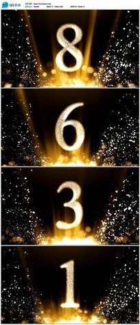 金色粒子10秒颁奖倒计时视频素材