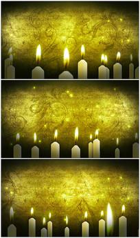 复古纹理花纹蜡烛背景视频素材
