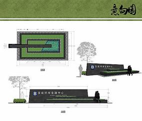入口logo墻設計