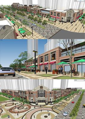 商业广场建筑景观