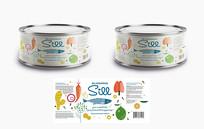 大气创意鱼罐头包装设计