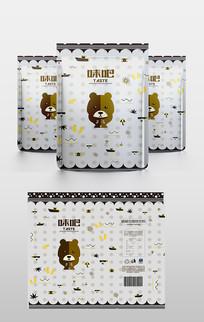 迷你熊卡通包装袋设计