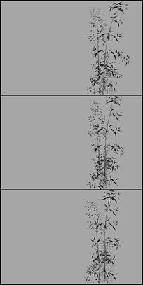水墨竹子动态素材带透明通道