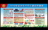 大气2018安全生产月展板