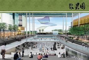 市民广场效果图
