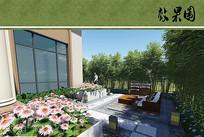私家庭院花园效果图