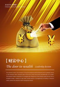 财富金融公司展板