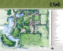 国家湿地公园旅游区放大平面图