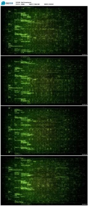 计算机语言程序代码背景视频