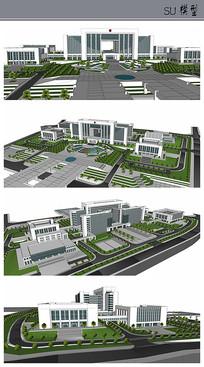 行政中心建筑及景观图纸
