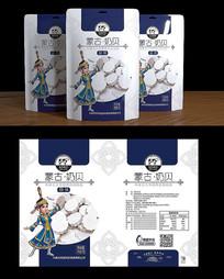 蒙古奶制品卡通包装设计