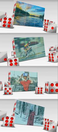 会声会影骰子特效图文宣传模板